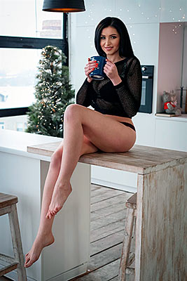 Sensitive bride Alla from Kharkov (Ukraine), 30 yo, hair color black