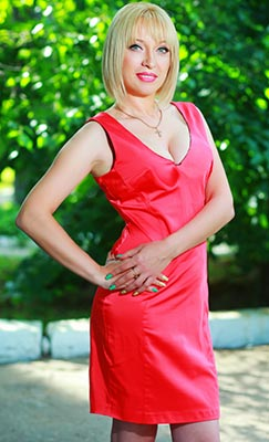 Cheerful lady Anjela from Odessa (Ukraine), 41 yo, hair color blonde