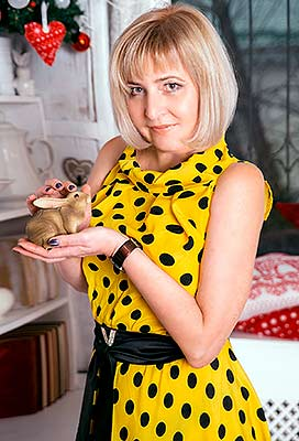 Kind woman Elena from Zaporozhye (Ukraine), 52 yo, hair color blonde