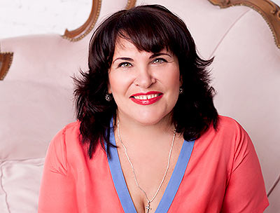 Communicative bride Lyudmila from Zaporozhye (Ukraine), 47 yo, hair color brown