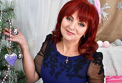 Kind bride Irina from Berdyansk (Ukraine), 53 yo, hair color red