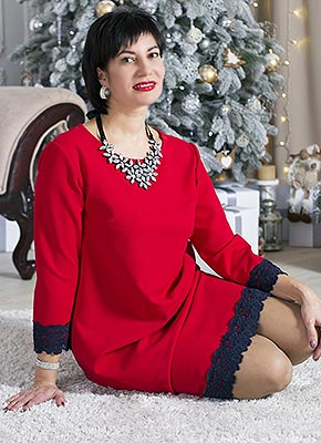 Super lady Tat'yana from Nikopol (Ukraine), 41 yo, hair color brown-haired