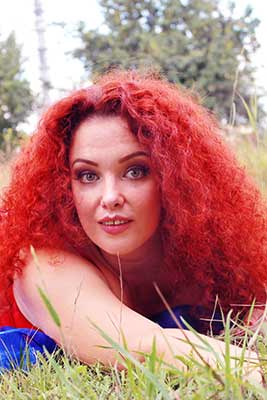 Brave woman Elena from Kharkov (Ukraine), 43 yo, hair color red-haired