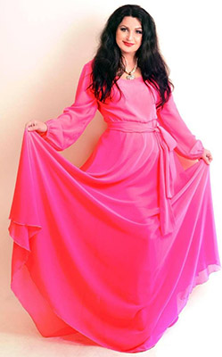 Optimist lady Svetlana from Kharkov (Ukraine), 45 yo, hair color black