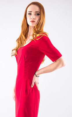 Serious woman Ol'ga from Kiev (Ukraine), 32 yo, hair color red-haired