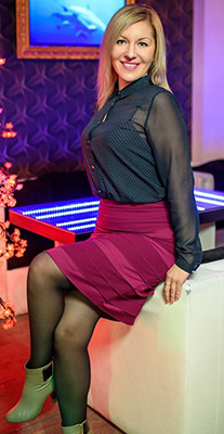Smart bride Anna from Kiev (Ukraine), 37 yo, hair color blonde