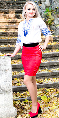 Steady bride Lyudmila from Nikolaev (Ukraine), 36 yo, hair color blonde
