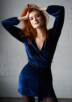Impulsive woman Aleksandra from Nikolaev (Ukraine), 26 yo, hair color red-haired