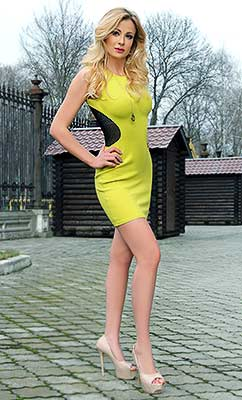 Serious woman Anna from Sumy (Ukraine), 35 yo, hair color blond