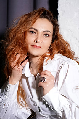 Open woman Alla from Vinnitsa (Ukraine), 43 yo, hair color red-haired