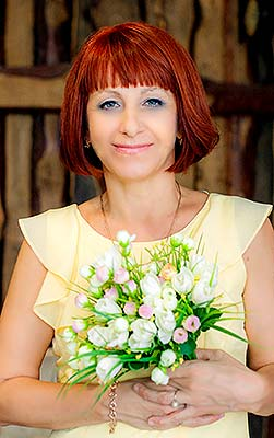 Cheerful bride Natal'ya from Pologi (Ukraine), 55 yo, hair color chestnut