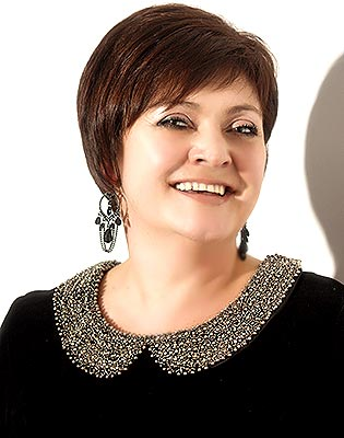 Purposeful lady Irina from Zaporozhye (Ukraine), 56 yo, hair color brunette