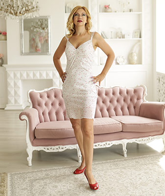 Active bride Oksana from Zaporozhye (Ukraine), 39 yo, hair color blonde