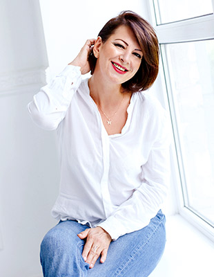 Reliable lady Liliya from Zaporozhye (Ukraine), 47 yo, hair color brown