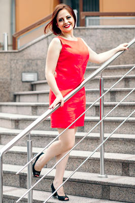Open bride Anna from Zaporozhye (Ukraine), 43 yo, hair color brown-haired