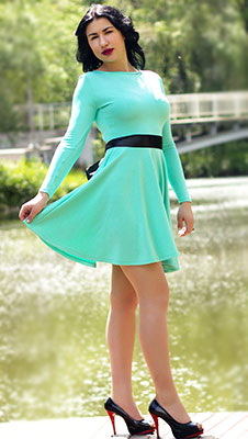 Tactful lady Anastasiya from Zaporozhye (Ukraine), 23 yo, hair color black